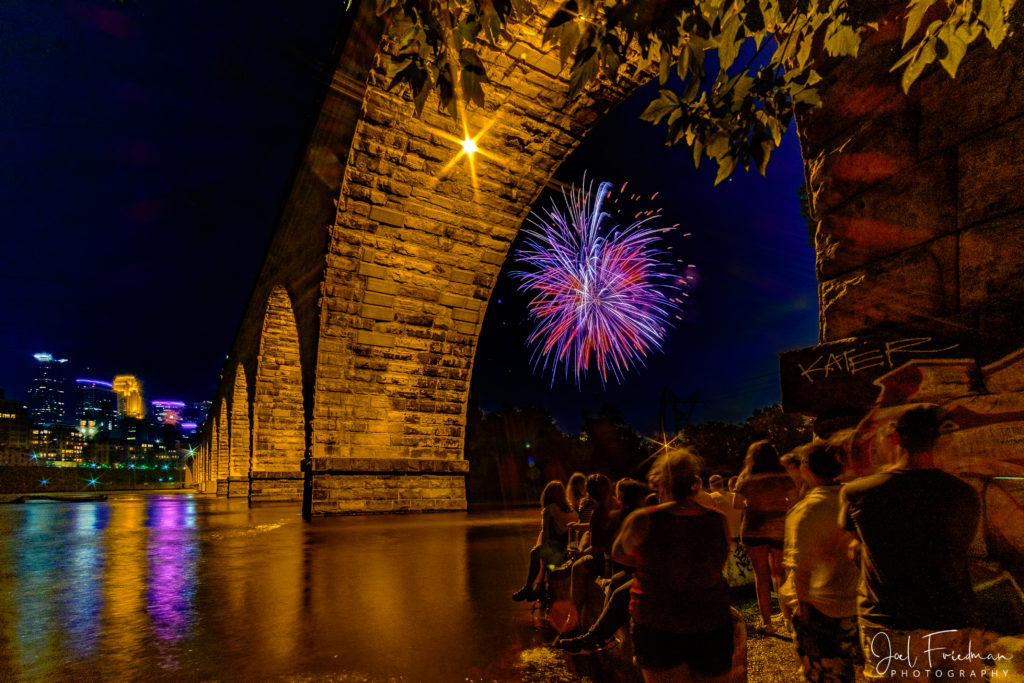 Stone Arch Bridge, July 4